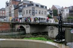 het vlottend Dijlepad onder de Fonteinbrug